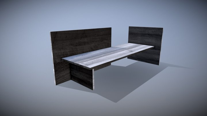 Bench (Gerrit Rietveld, 1930) 3D Model