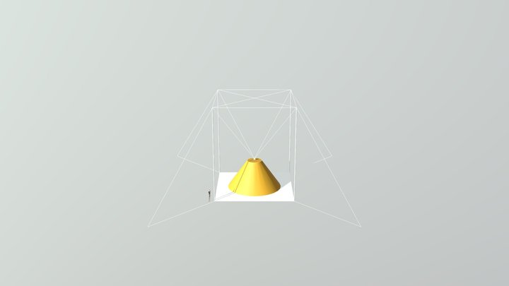 Moon or Mars hanging 3D printer 3D Model