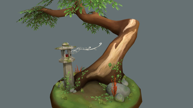 Tiny Forest 3D Model