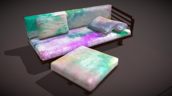 Painted Style Modern Sofa 3D Model