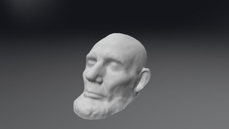 Lincoln Life Mask Scan 3D Model