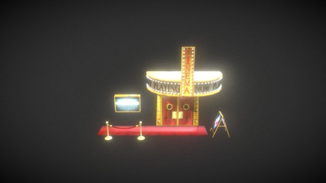 Theater Facade 3D Model