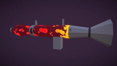 Lava lamp Rocket launcher (Red) 3D Model