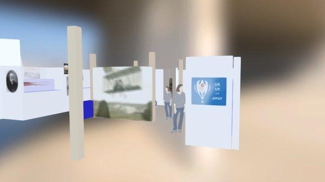 Museum exhibition mock-up 2016 3D Model