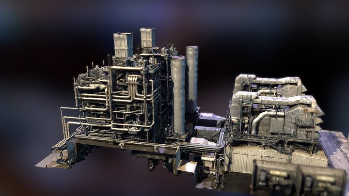 Steampunk Factory ? 3D Model