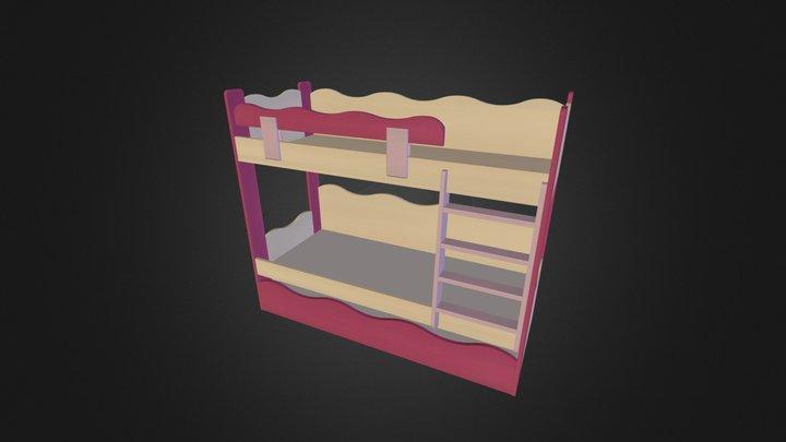 מיטת קומותיים דגם גל 250 נגרר 250-2 3D Model