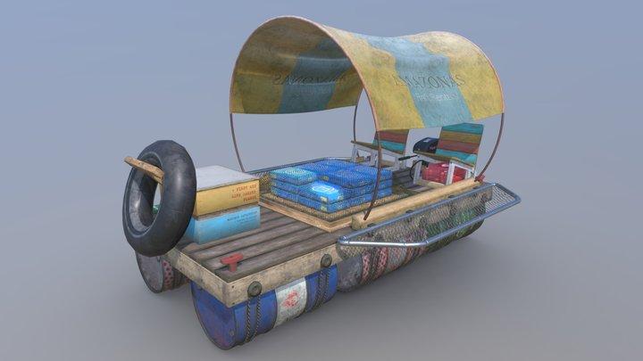 Custom Raft 3D Model