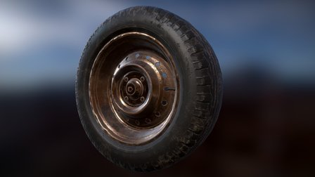 Old Rusty Tire 3D Model