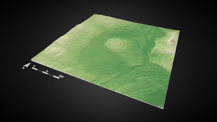 Medieval stronghold, Chrzelice, PL 3D Model