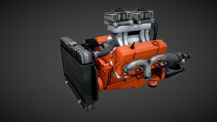 V8 Small Block 3D Model