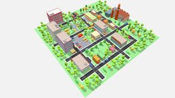 Town pack (Low Poly) 3D Model