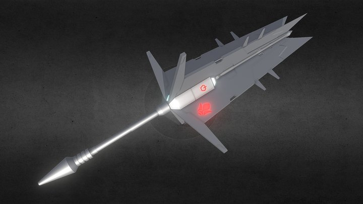 Gundam Barbatos Weapon 3D Model