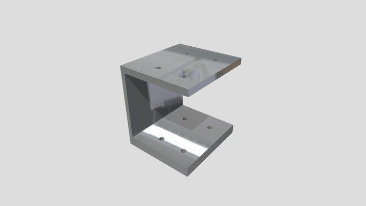 Bracket On 2x2 - Plain 3D Model