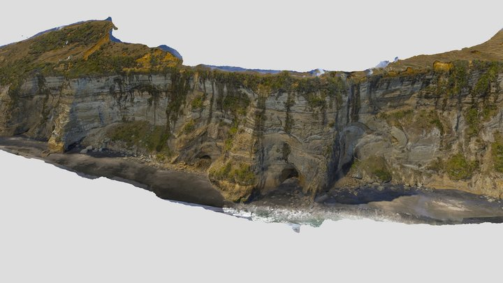 Paparahia Beach 3D Model