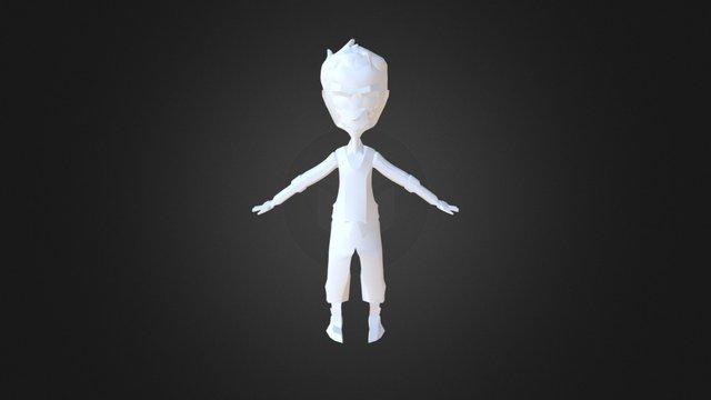 Personatge poligonal 3D Model