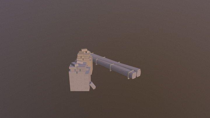Simple byggematerialer 3D Model