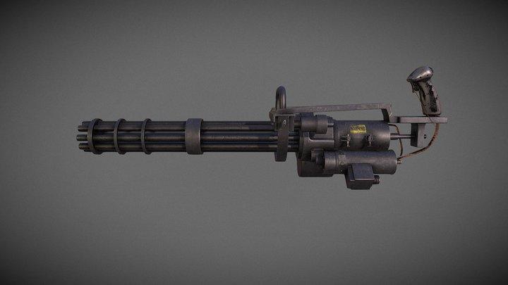 Minigun M134 Update (Substance Painter) 3D Model