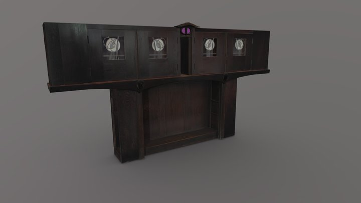 Bookcase for Windyhill - MC/F/032 3D Model