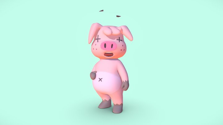Jerry - just your friendly neighborhood pig 3D Model