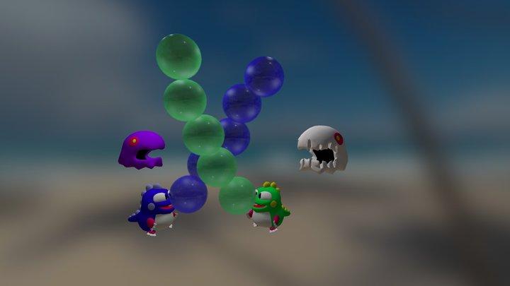 Bub&Bob from Bubble Bobble! 3D Model