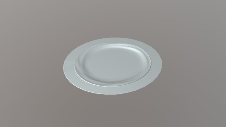 Vajilla Oblonga - Plato Oblongo (test) 3D Model