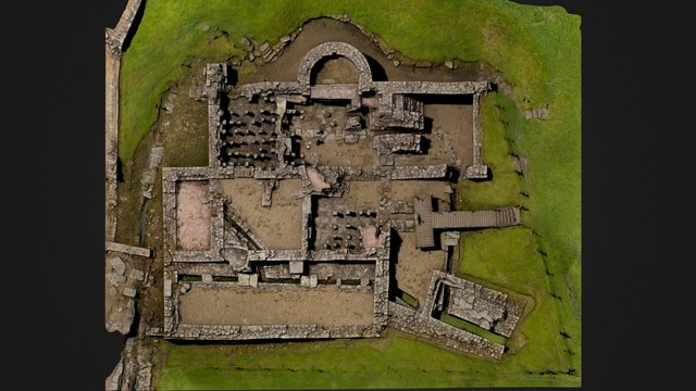 Vindolanda Bath House 3D Model