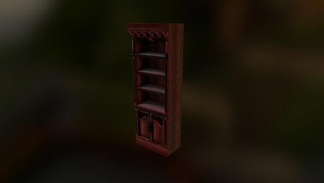 Gothic Bookshelf 3D Model