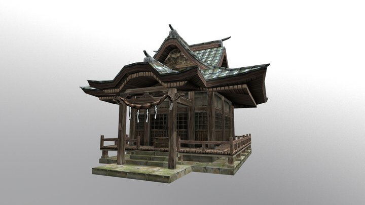 Japanese shrine 3D Model
