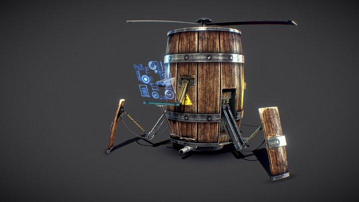 Barrel Bot - PBR Update - Download now 3D Model