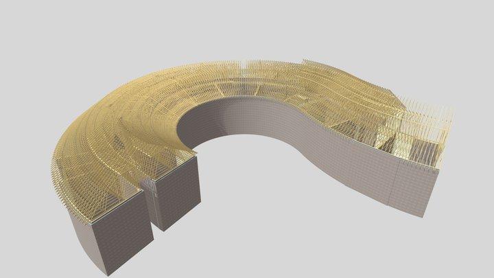 Question Mark Roof 3D Model