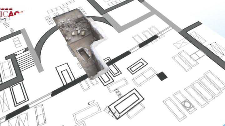 Apse foundations, basilica Saint Fructuosus 3D Model