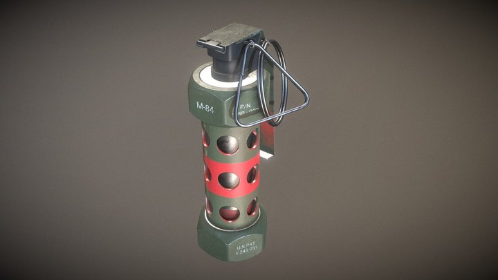 M84 Flashbang Grenade 3D Model