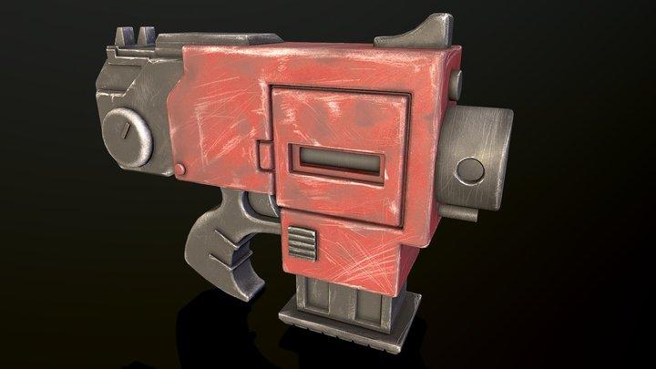 Warhammer 40k Toy Bolter Pistol 3D Model