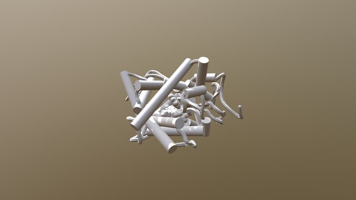 cyt P450 1A2 3D Model