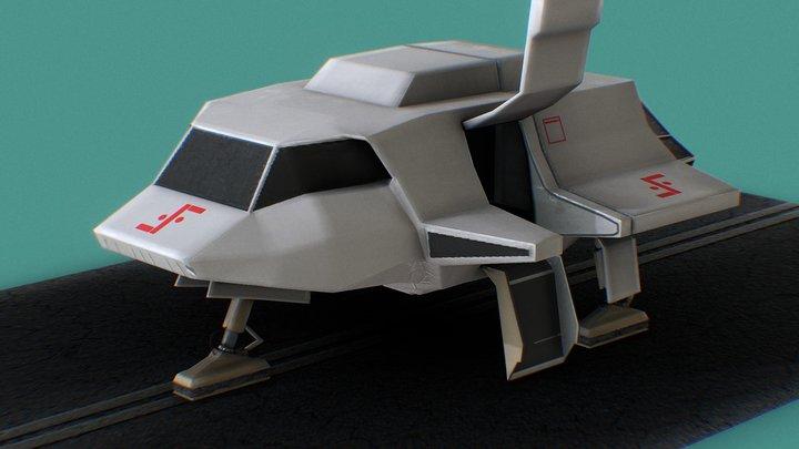 Visitor´s Skyfighter V 3D Model
