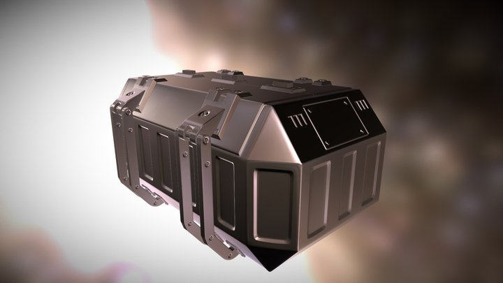 Hi-Poly Sci-Fi Storage Crate   3D Model