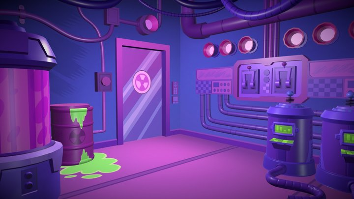 Teen Titans Go! Hazard Room 3D Model