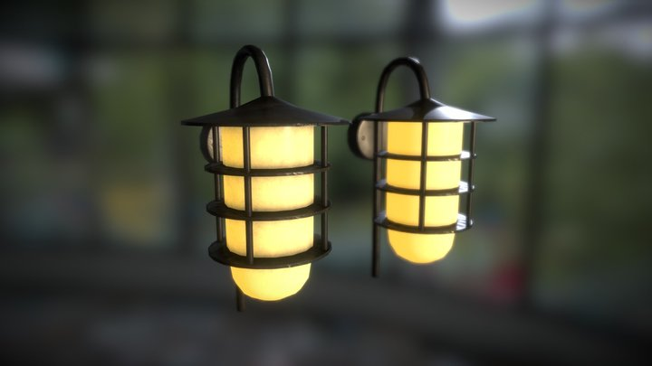 Outdoor Wall Lights - Colorado (Low Poly) 3D Model