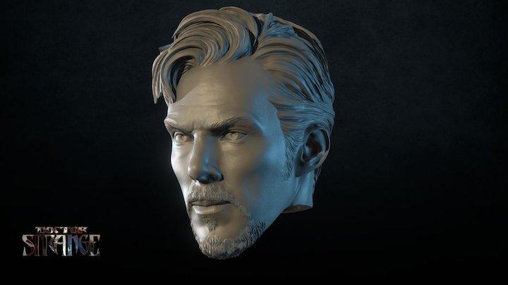 Doctor Strange Head Action Figure 3D Model