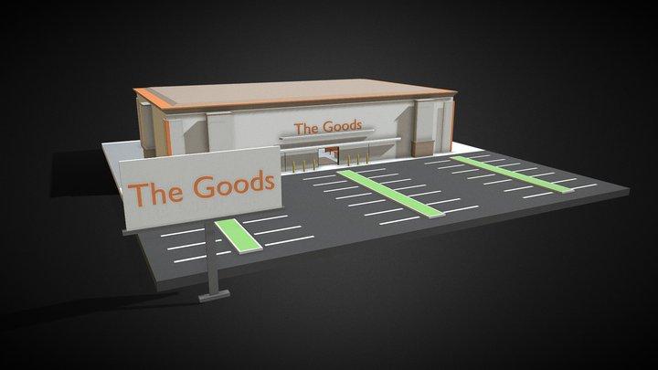 Supermarket (Low Poly) 3D Model