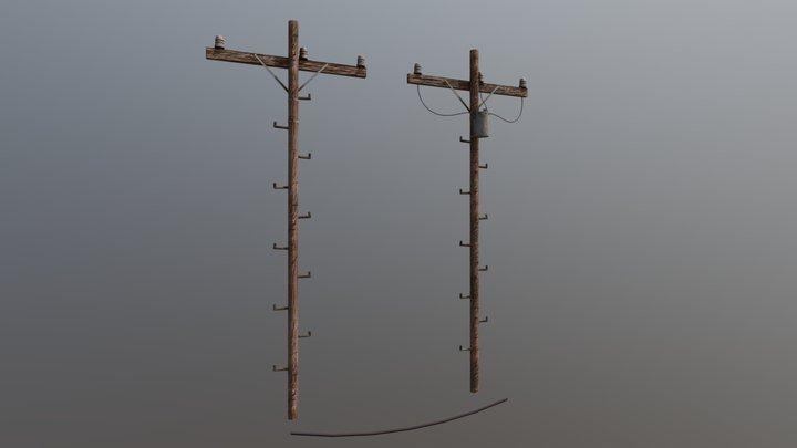 Telephone Poles 3D Model