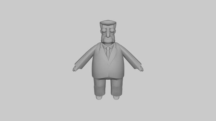 The Simpsons Game (2007) - Kent Brockman 3D Model