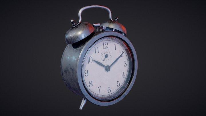 Dekad Alarm Clock Black 3D Model
