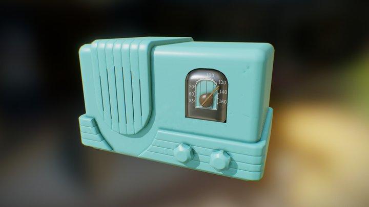 1940s Radio. Simple Plastic Case. 3D Model