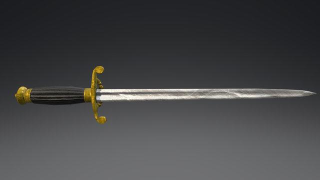 19th Century Naval Dirk 3D Model