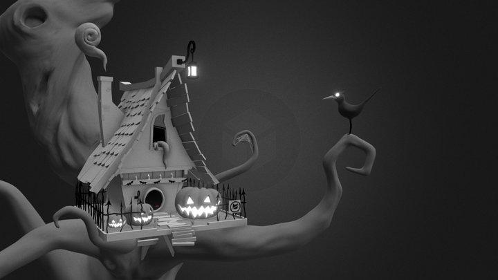 Haunted Birdhouse 3D Model