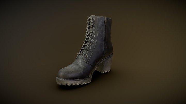 Worn Vagabond women Leather Boot 3D Model