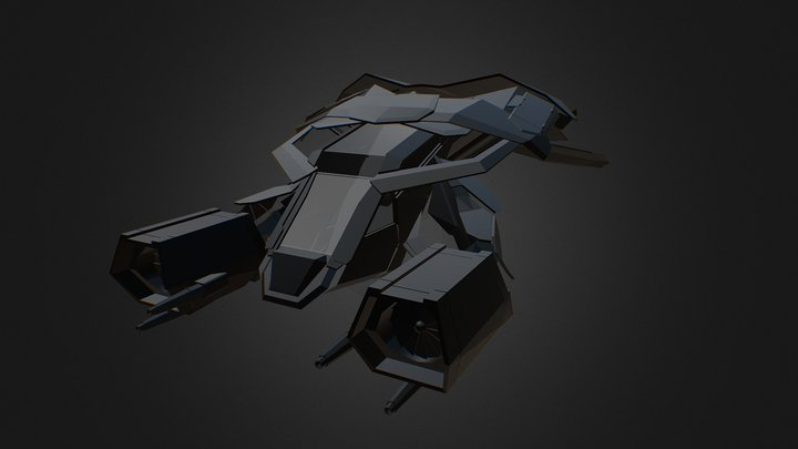 Batman Plane Dark Knight Rises 3D Model