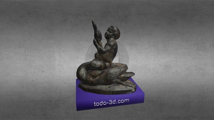 Ángel en fuente (Cuenca) 3D Model