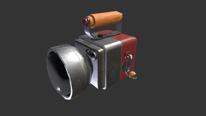 Dynamo handheld flashlight 3D Model